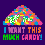 I want this much candy halloween candy pile