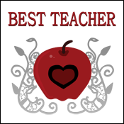Best Teacher Red Apple