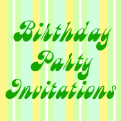 Birthday Party Invitations Cards and Stamps