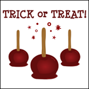 Halloween Candy Apples Trick or Treat