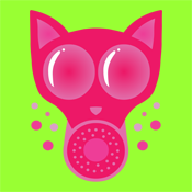 Pink Cat Gas Mask