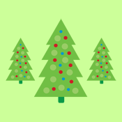 Hip Modern Polka Dot Christmas Trees