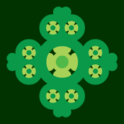 Irish Celtic Knotwork Four Leaf Clover