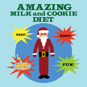 Funny Christmas Amazing Milk and Cookie Santa Diet