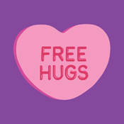 Free Hugs Valentine's Day Valentine Candy Heart