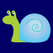 Cute Funny Green Snail