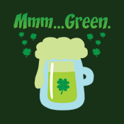 Irish Green Beer St. Patrick's Day mmm Green