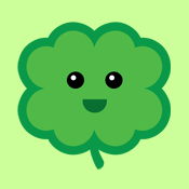 cute kawaii lucky four leaf clover