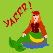 Yarrr Pirate Mermaid
