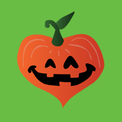 Cute Pumpkin Jack o' Lantern Heart