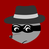 Retro Vintage Cartoon Raccoon Racoon Mobster Gangster