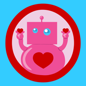 Valentine's Day Heart Love Robot