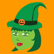 Cute Green Cartoon Wicked Witch